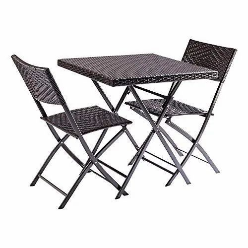 Brown Outdoor Cafeteria Table And Folding Chairs Set Patio Furniture Set Rs 6999 Piece Id 21641694197