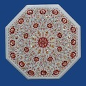 Octagonal Marble Inlay Table Top, Inlay Marble Table Tops