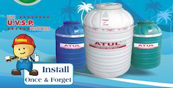 Plastic Water Storage Tanks, Capacity: 200 to 5000 L
