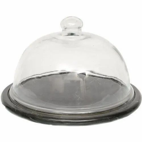 Marble Cake Trays With Dome