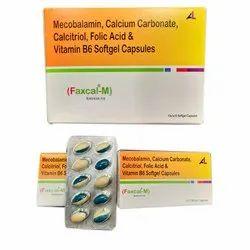 Mecobalamin  Calcium Carbonate Calcitriol Folic Acid  And Vitamin B6 Softgel Capsules