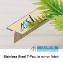 Stainless Steel Brass Finish T Patti