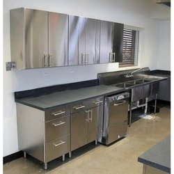 Stainless Steel Silver S.S.Kitchen Cabinet