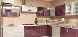 MDF (Medium-Density Fibreboard) Artificial Marble Mudular Kitchen, Handle & Knob