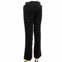 Men's Cotton Plain Flat Trouser