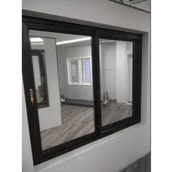 Brown PVC Sliding Window, Glass Thickness: 6 Mm