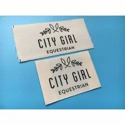 Taffeta Cotton White Printed Garment Label, For Garments, Packaging Type: Packet