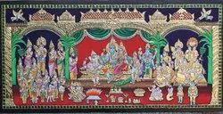Shri Parvathi Kalyanam Tanjore Painting