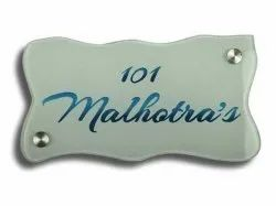 10 MM Glass Name Plate