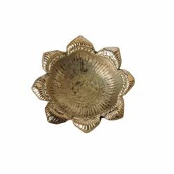 AJN-31 Brass Flower Shaped Diya