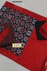 Ikat Silk Suits Code No: CCCSVC2330-A