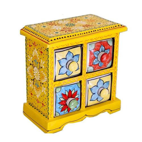 4 Inch Painted Ceramic Drawer