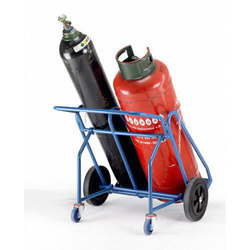 MS Double Gas Cylinder Trolley