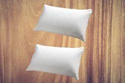 White Plain Fiber Pillow, Shape: Rectangular