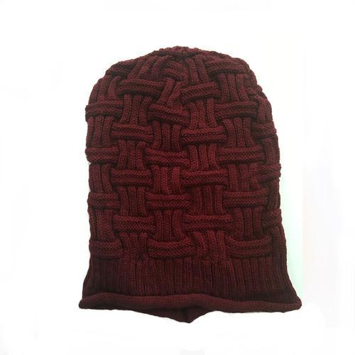 Maharoon Maroon Knitted Slouchy Beanie 0507cc28cbe