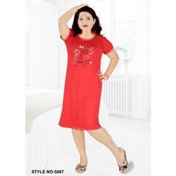 Red Hosiery Short Nighty