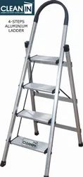 Clean-In 4 Steps Aluminium Folding Ladder