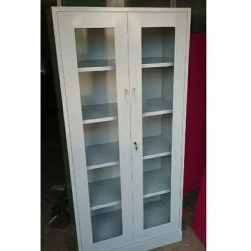 Capella Steel & Glass Glass Door Almirah, For Home