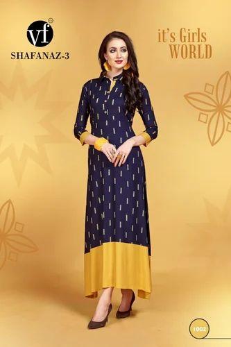 5ef6d37f7b Rayon Casual Wear Kurtis, Size: M To XXXL, Rs 470 /piece | ID ...