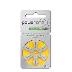 P -10 Power One Hearing Aid Battery