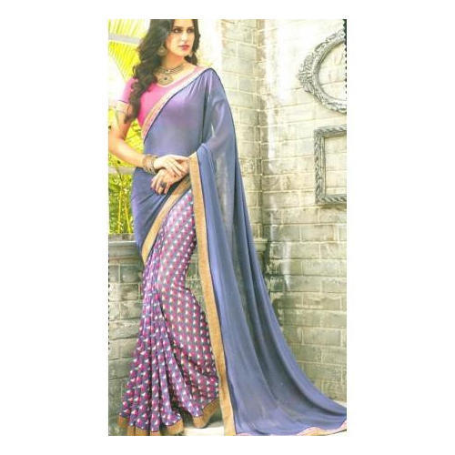 Floral Print Georgette Trendy Printed Saree
