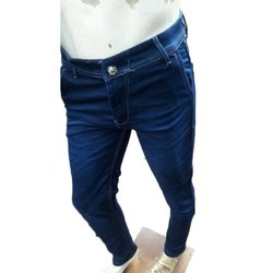 Regular Fit Mens Blue Denim Jeans, Waist Size: 28-34