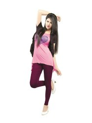 4 Colors Cotton Lycra 4 Way Stretchable Ladies Ankle Length Legging, Size: Free Size