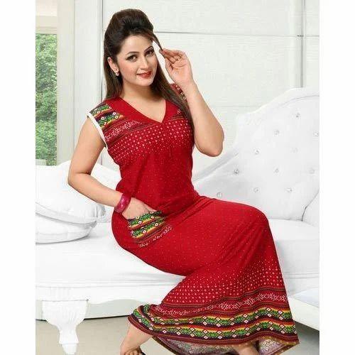 Ladies Nightwear Gown at Rs 500 /piece | Ladies Nightwear Gown ...
