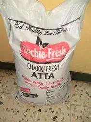 Indian Whole Wheat Ruchie Fresh Chakki Fresh Atta 25 kg, Packaging Type: Pp Bags