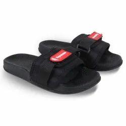Black Rubber Slider Slipper Flip-Flops, Size: 36x41