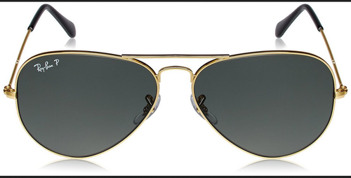 17a95047e8 Green Lens With Gold Frame Glass Lens With Metal Frame Ray-Ban Aviator  Sunglasses (