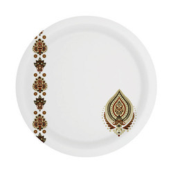 Brown Leafy Sonata Melamine Plate