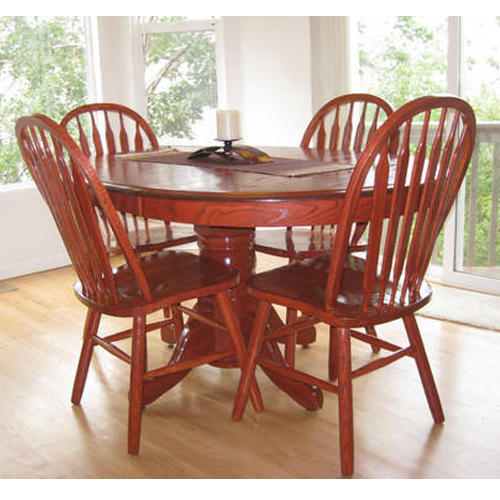 Round Wooden Dining Table Set Rs 30000