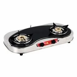 Two Burner Glasstop LPG Gas Stove