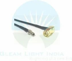 RF Cable Assemblies RP SMA Male Right Angle to TS9 in RG174