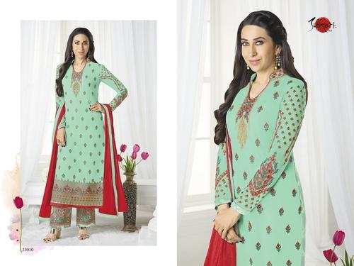 7bf590dae1eb5 Georgette And Santoon Collar Neck Preet Salwar Suit, Rs 1595 /piece ...