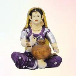 Rajasthani Lady Matka Statue