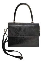 Genuine Leather Handbag for Women Crocodile Print