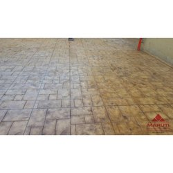 Industrial Stamp Concrete Flooring Services, On Cite