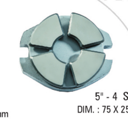 5x4 Segment Carbon Thrust Bearing