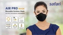 Safari Air Pro Reusable Outdoor Cotton Mask, Number Of Layers: 6 Layer, Certification: Sitra