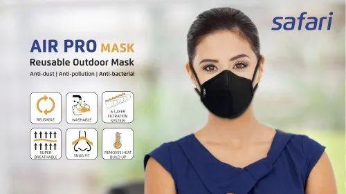 Safari Air Pro Reusable Outdoor Cotton Mask, Number Of Layers: 6 Layer
