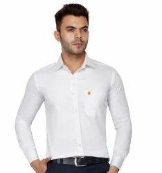 Cotton Plain Formal White Shirt