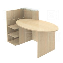 Wooden Reception Table