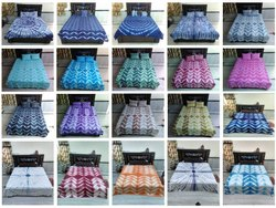 Tie Dye Shibori Design Bed Sheets