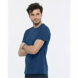 Hosiery Men Gazelles Blue Premium Quality Cotton T-Shirt, Gsm: 180