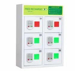 Az Link 6-Door Pin Code Lock Phone Charging Locker Model: DE-6