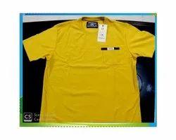 Yellow Cotton T- Shirt