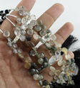 Rutile Heart Briolette Layout Faceted Beads