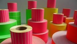 Multicolor Self Adhesive Sticker Labels